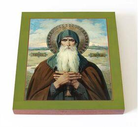 Преподобный Никола Святоша, Черниговский, икона на доске 14,5*16,5 см - Иконы