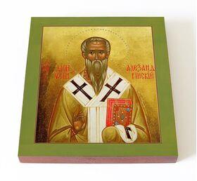 Священномученик Дионисий Александрийский, икона на доске 14,5*16,5 см - Иконы