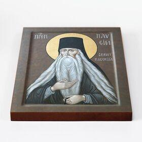 Преподобный Паисий Величковский, икона на доске 20*25 см - Иконы