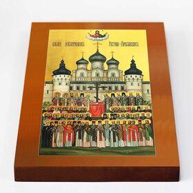 Собор новомучеников Ростово-Ярославских, икона на доске 18*26 см - Иконы