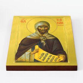 Преподобный Ефрем Сирин, икона на доске 20*25 см - Иконы