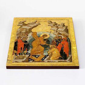 Воскресение Христово, Сошествие во ад, икона на доске 30*36 см - Иконы