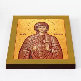 Преподобномученица Феврония Сирская, дева, икона на доске 20*25 см - Иконы