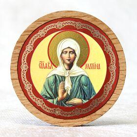 Икона автомобильная круглая с ковчегом, Матрона Московская - Автомобильные иконы