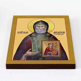 Преподобный Феодосий Тотемский, печать на доске 20*25 см - Иконы
