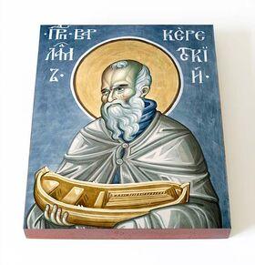 Преподобный Варлаам Керетский, икона на доске 13*16,5 см - Иконы