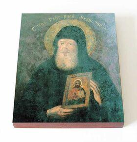 Преподобный Григорий Печерский, иконописец, икона на доске 13*16,5 см - Иконы