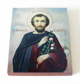 Преподобный Евфросин Палестинский, повар, икона на доске 13*16,5 см - Иконы