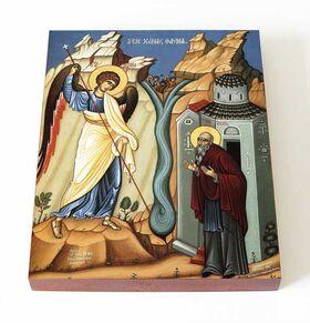 Чудо Архангела Михаила в Хонех, икона на доске 13*16,5 см - Иконы