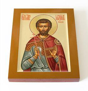 Мученик Максим Римский, епарх, икона на доске 13*16,5 см - Иконы