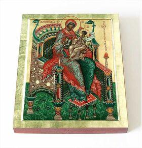 """Икона Божией Матери """"Гора Нерукосечная"""", печать на доске 8*10 см - Иконы"""
