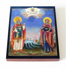 Пророк Захария и праведная Елисавета, икона на доске 8*10 см - Иконы