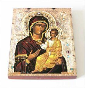 Иверская Монреальская икона Божией Матери, доска 8*10 см - Иконы
