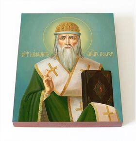 Святитель Нифонт Печерский, Новгородский, икона на доске 8*10 см - Иконы