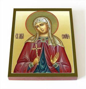 Мученица София Римская, икона на доске 8*10 см - Иконы