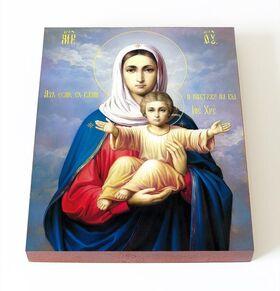 """Икона Божией Матери """"Аз есмь с вами и никтоже на вы"""", доска 13*16,5 см - Иконы"""
