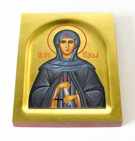 Преподобная Марфа Дивеевская, Милюкова, икона на доске 13*16,5 см - Иконы