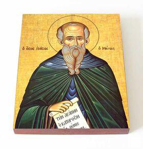 Преподобный Паисий Великий, печать на доске 13*16,5 см - Иконы