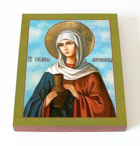 Святая Сусанна Мироносица, икона на доске 13*16,5 см - Иконы