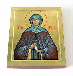 Преподобная Марфа Дивеевская, Милюкова, икона на доске 8*10 см - Иконы