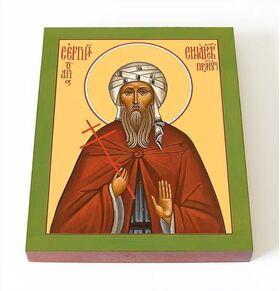 Преподобномученик Сергий Синайский, икона на доске 8*10 см - Иконы