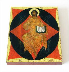 Спас в силах, Ярославль, XVI в, икона на доске 8*10 см - Иконы