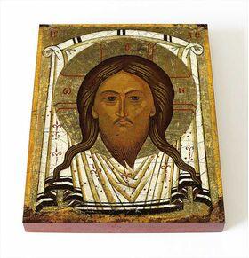 Спас Нерукотворный, Новгород, XVI в, икона на доске 8*10 см - Иконы