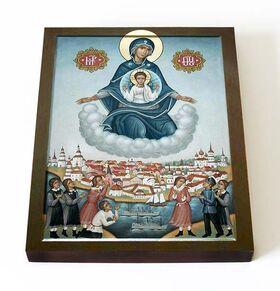 Явление Пресвятой Богородицы в Архангельске, икона на доске 13*16,5 см - Иконы