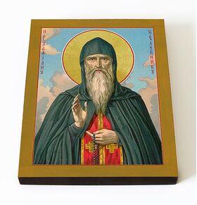 Преподобный Дамиан Печерский, целебник, икона на доске 8*10 см - Иконы