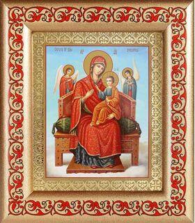 """Икона Божией Матери """"Всецарица"""", широкая рамка с узором 14,5*16,5 см - Иконы"""