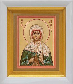 Мученица Вевея Едесская, Февея, Вивея, икона в белом киоте 14*16 см - Иконы