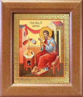Апостол Матфей, евангелист, икона в широкой рамке 14,5*16,5 см - Иконы