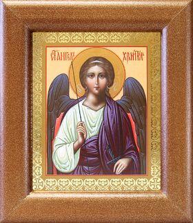 Ангел Хранитель, икона в широкой деревянной рамке 14,5*16,5 см - Иконы