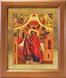 Зачатие Пресвятой Богородицы, икона в широкой рамке 19*22,5 см - Иконы
