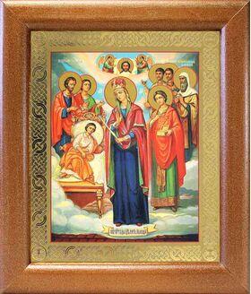 """Икона Богородицы """"Целительница"""" и святые врачеватели, рамка 19*22,5 см - Иконы"""
