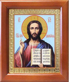 Спас Вседержитель, икона в рамке 12,5*14,5 см - Иконы