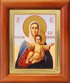 """Икона Божией Матери """"Аз есмь с вами и никтоже на вы"""", рамка 8*9,5 см - Иконы"""