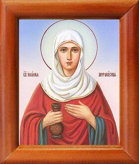 Праведная Иоанна Мироносица, икона в рамке 8*9,5 см - Иконы