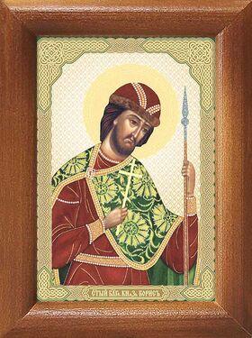 Благоверный князь Борис, икона в рамке 7,5*10 см - Иконы