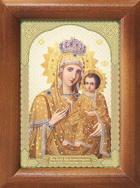 Икона Божией Матери Акафистная Зографская, рамка 7,5*10 см - Иконы