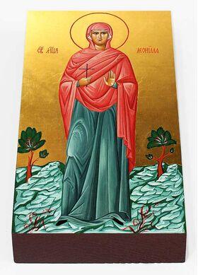 Мученица Леонилла Лангонийская, Неонилла, икона на доске 7*13 см - Иконы