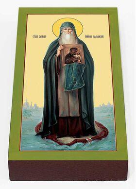 Святитель Василий, епископ Рязанский, икона на доске 7*13 см - Иконы