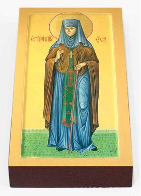 Преподобномученица Ева Павлова, игумения, икона на доске 7*13 см - Иконы
