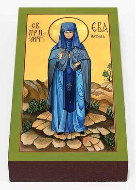 Преподобномученица Ева Павлова, игумения, печать на доске 7*13 см - Иконы