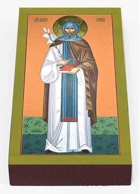 Преподобный Моисей Угрин, Печерский, венгр, доска 7*13 см - Иконы