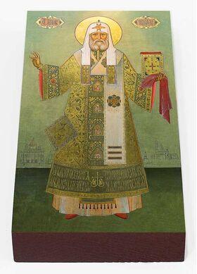 Святитель Тихон, патриарх Московский, икона на доске 7*13 см - Иконы